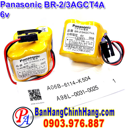 Pin nuôi nguồn PLC FANUC BR-2/3AGCT4A battery with black connector )